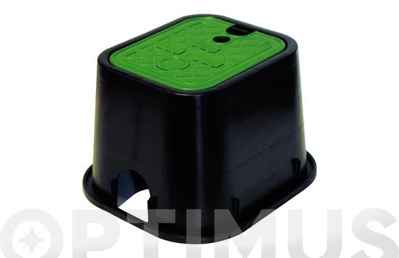 Arqueta cuadrada para 1 electrovalvula h 17,5 x a 18 x f 21 cm.