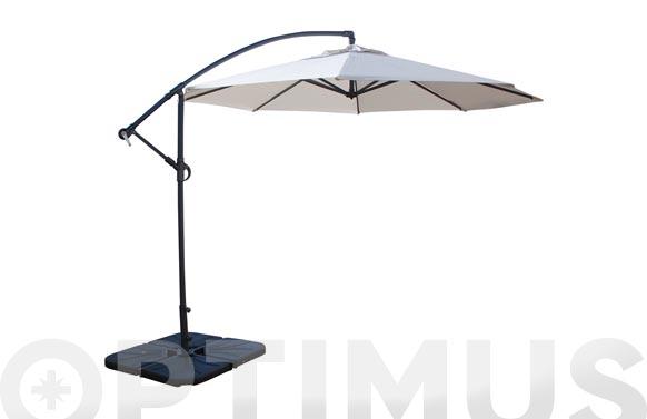 Parasol aluminio excentrico arena ø 300 cm
