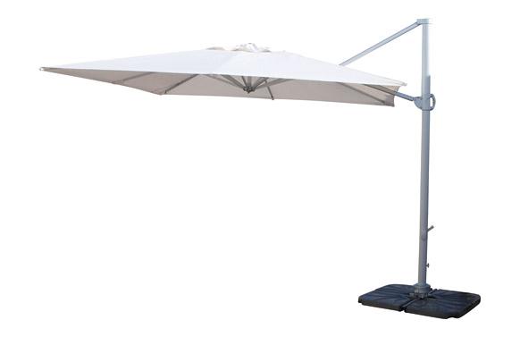 Parasol aluminio excentrico 3x3 m arena