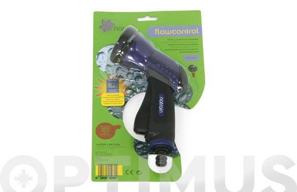 Pistola riego plastico rociadora con control de caudal