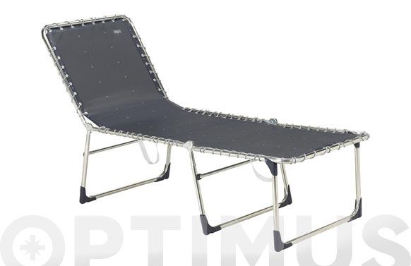 Cama extra ancha reforzada aluminio elastica color 40