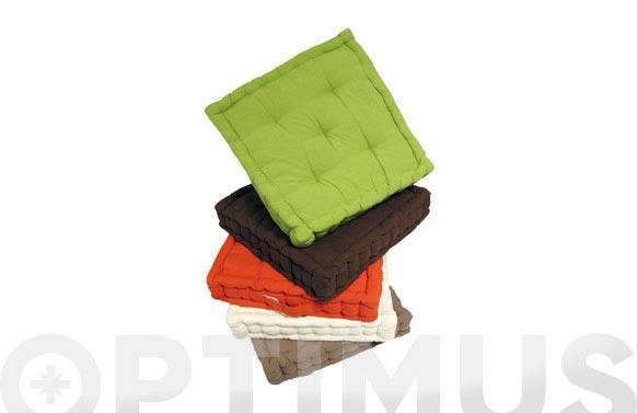 Cojin colchon lineal 50x50 cm 1577-naranja