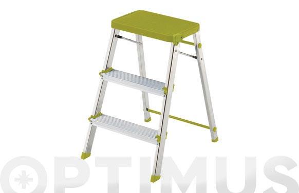 Taburete escalera aluminio m/3 lima