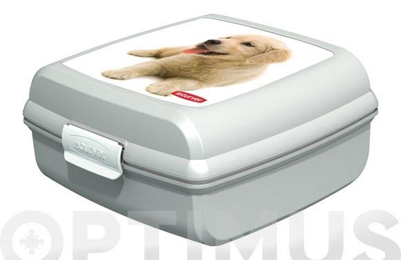 """Contenedor snap box """"m"""" perros 02276-p74-02"""