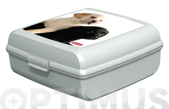 """Contenedor snap box """"l"""" perros 02273-p74-01"""
