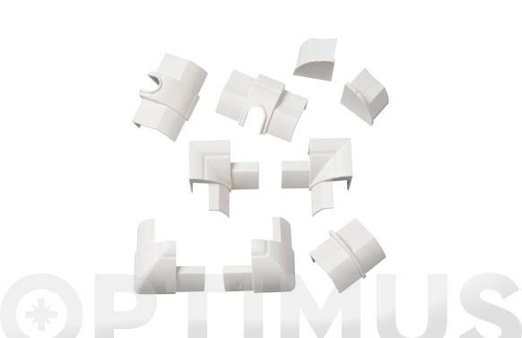 Accesorio canaleta esquinera 22 x 22 mm blanco