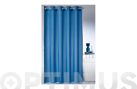 Cortina baño poliester magic-azul 180 x 200 cm