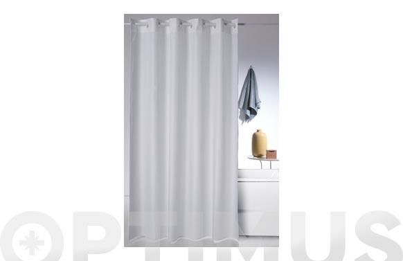 Cortina baño poliester magica-blanca 180 x 200 cm
