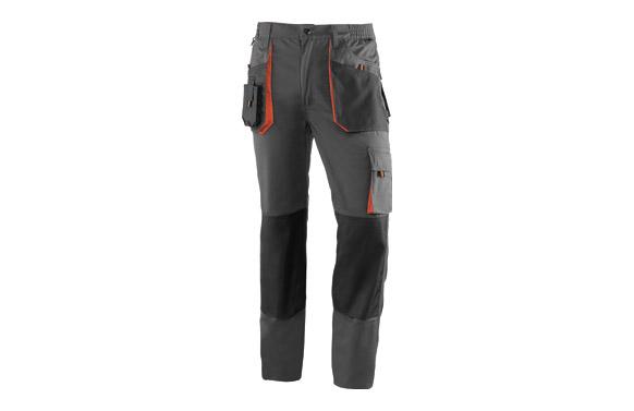 Pantalon poliester algodon top range bicolor t l gris / negro / naranja