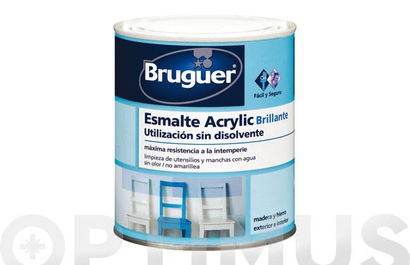 Esmalte acrylic brillante 750 ml blanco permanente