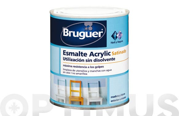 Esmalte acrilyc satinado 750 ml blanco permanente