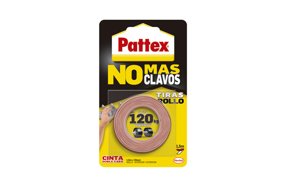 Cinta doble cara no mas clavos 19 mm x 1,5 m