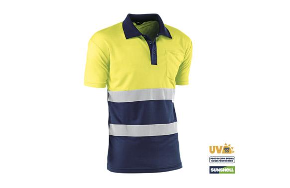 Polo coolway alta visibilidad t xxxl amarillo/azul