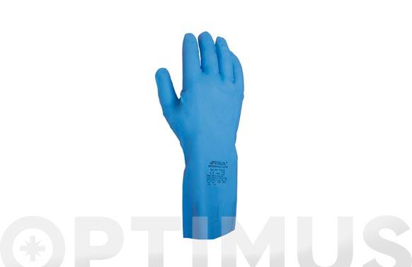 Guante nitrilo satinado t 7 azul