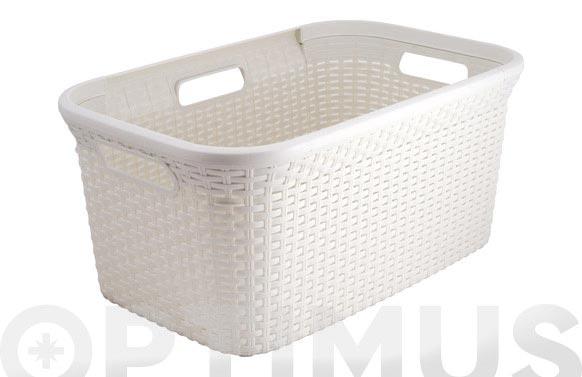 Cesta ropa natural style 45l blanco