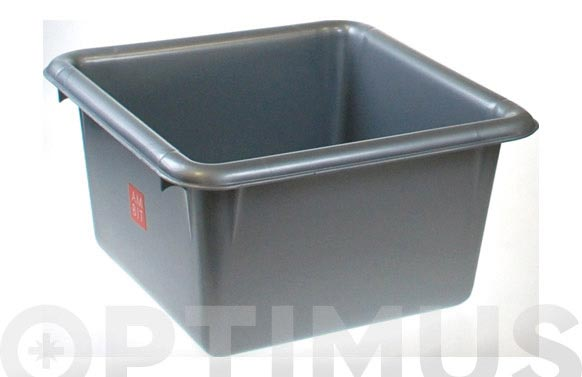 Barreño cuadrado plata 6 l 26 x 14 cm