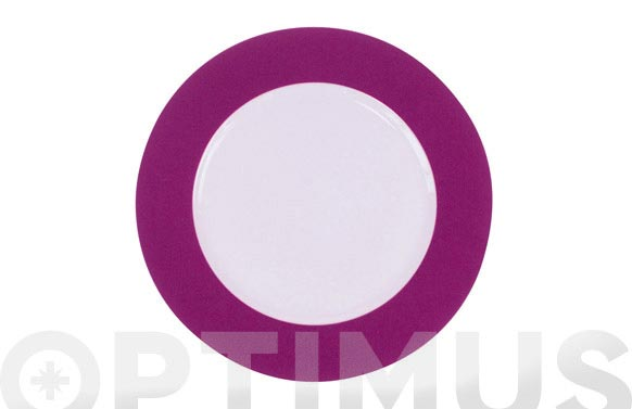 Plato llano 27 porcelana decorado banda lila