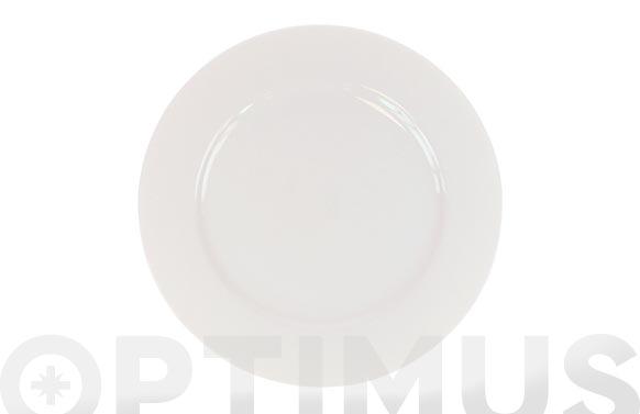Plato porcelana blanca open llano 27