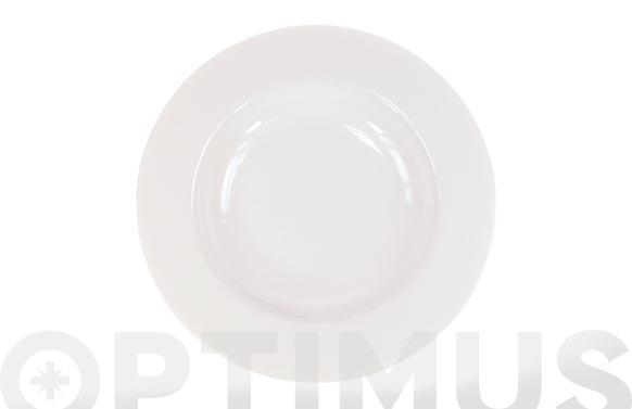 Plato porcelana blanca open hondo 23 cm