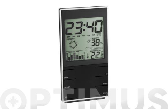 Estacion met digital con reloj 35110201-negra