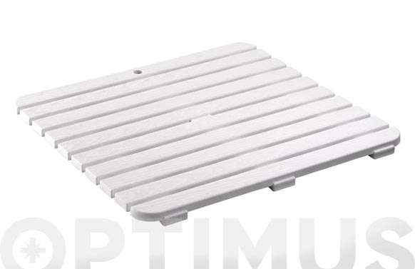Tarima plato ducha 55 x 55 cm blanco