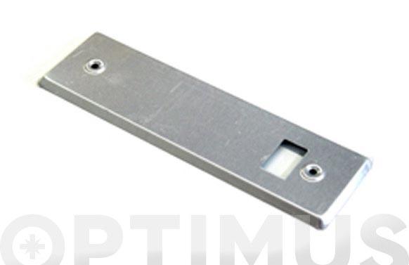 Placa para recogedor aluminio natural 22 cm