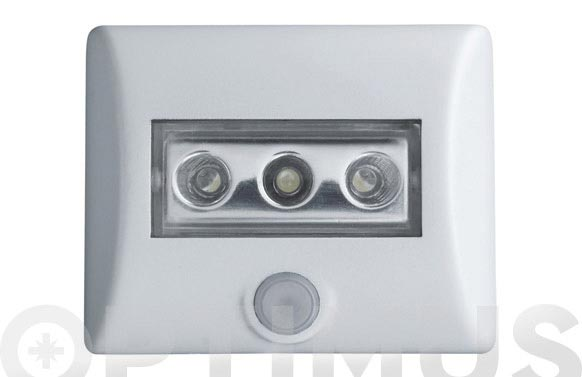 Luz led seguridad con sensor 86x32 mm