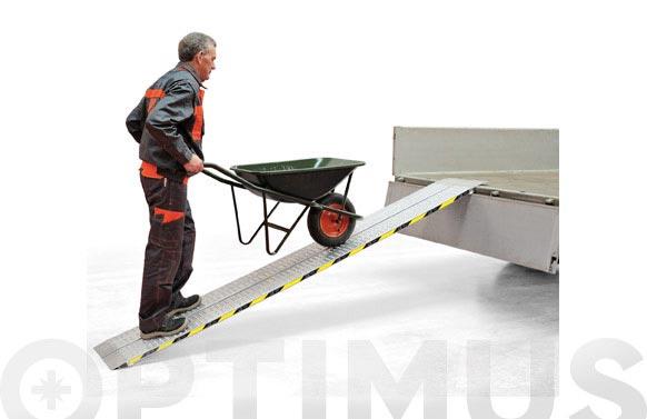 Rampa aluminio fija plana rfl150, 1500 x 200 mm