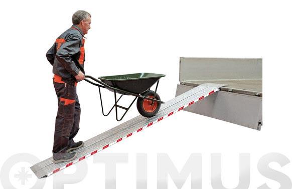 Rampa aluminio plegable biplana rrl150, 1500 x 200 mm.