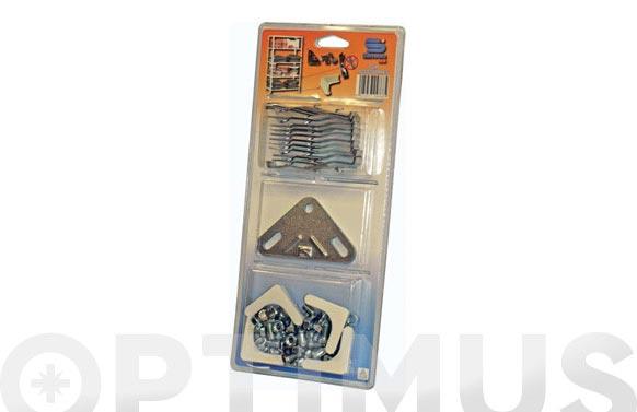 Accesorios estanteria metalica con tornillos