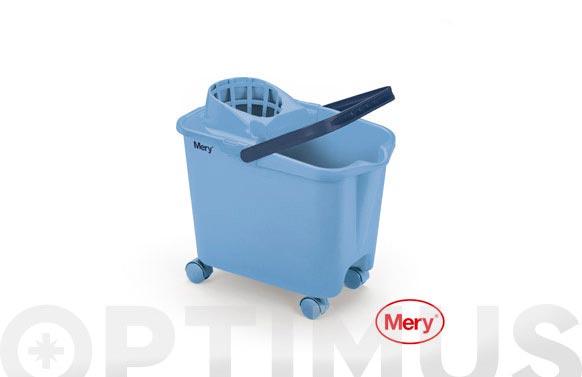 Cubo fregar con ruedas azul 14 l