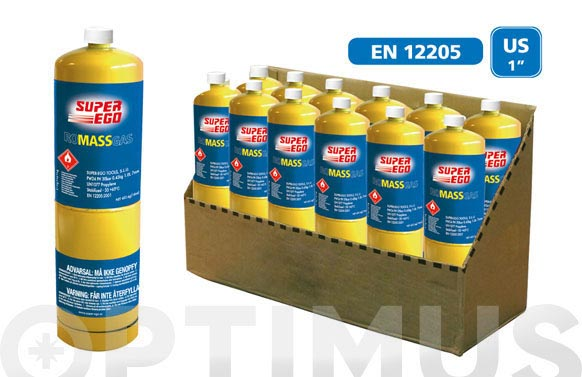 Cartucho gas desechable con valvula 1000 ml romassgas/453gr