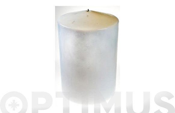 Vela bloque cilindro blanco 18 x 25cm