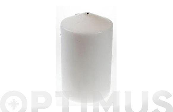Vela bloque cilindro blanco 10x15cm