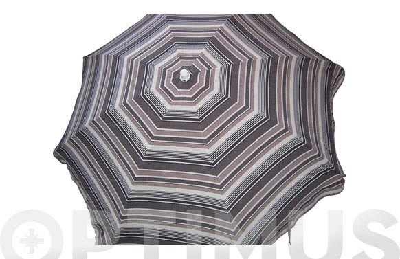 Parasol d.200cm 8v.2mm terraza marron/crudo