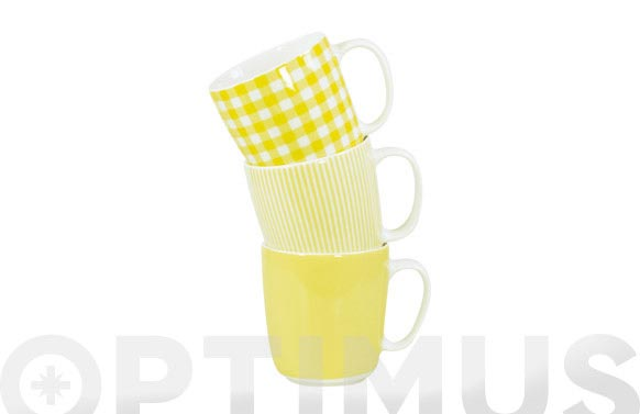 Mug porcelana ambit amarillo surtido