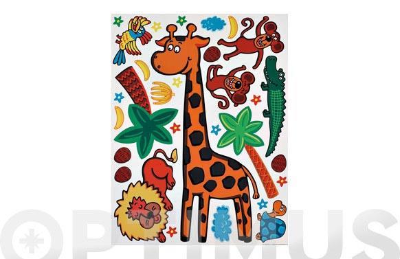 Lamina deco adhesiva removible 65x85 cm jirafa