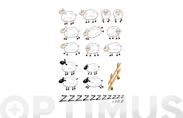 Lamina deco adhesiva removible ovejas sheeps