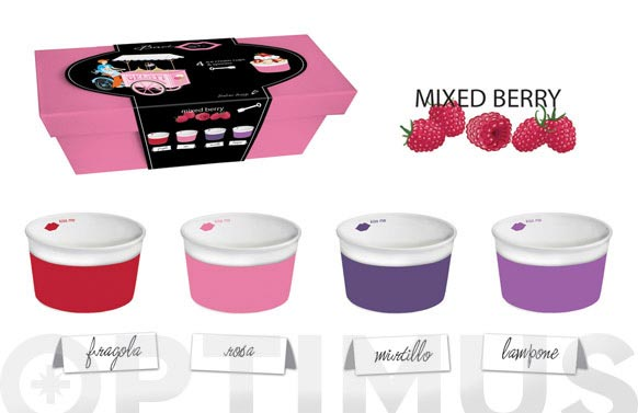 Bowl helado + cuchara set regalo frambuesa