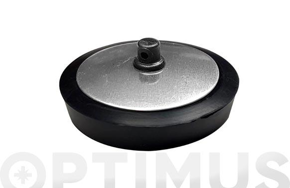 Tapon goma p/valv chapa inox 40 mm