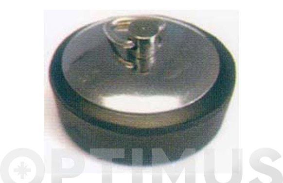 Tapon goma p/valv chapa inox 42 mm