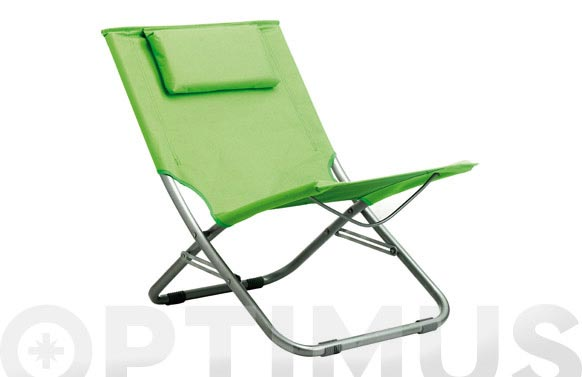 Silla playa plegable verde 47 x 52 x 60 sf