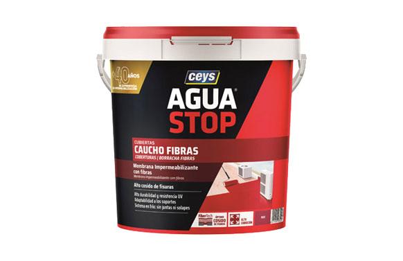 Agua stop caucho acrilico fibras 5 kg rojo