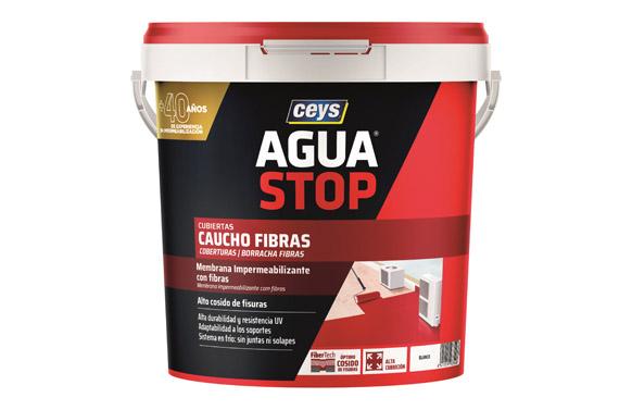 Agua stop caucho acrilico fibras 5 kg blanco
