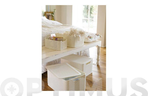 Caja mediana style 18l blanco