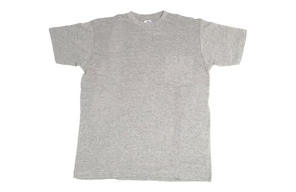 Camiseta algodon manga corta bolsillo t m gris