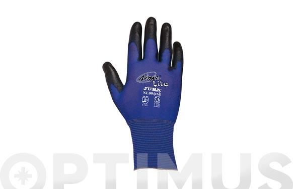 Guante nilon con pu ninja lite t 8 azul