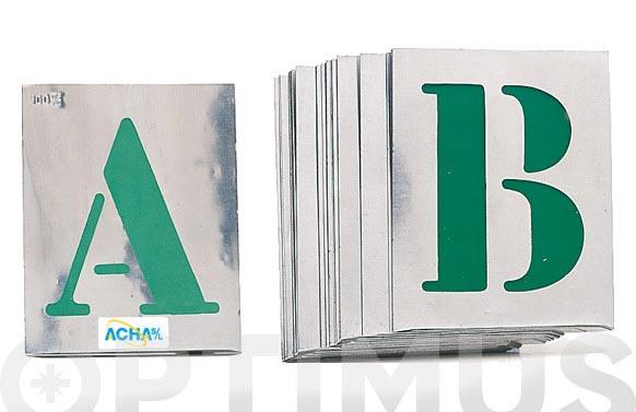 Plantilla rotular letras alt.let 50 mm
