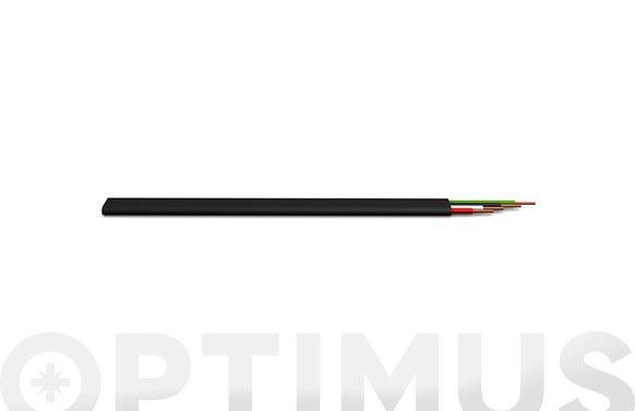 Cable telefono plano 4 vias 2,5x4,8 negro