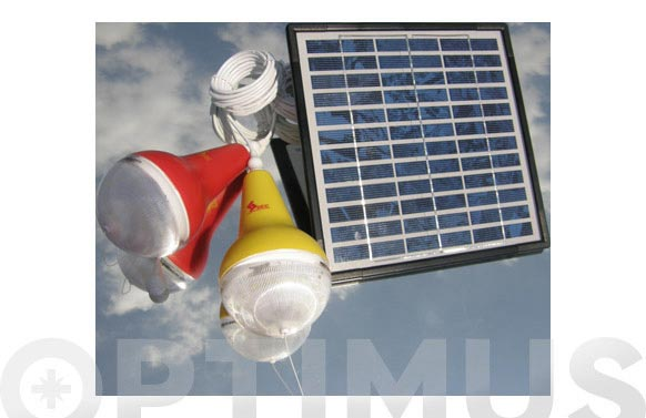 Lampara + panel solar kit 1 bombilla